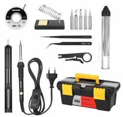 Fer à Souder Electrique Meterk 14 en 1 Kit de Souder et Dessouder, Température Réglable avec Interrupteur MARCHE