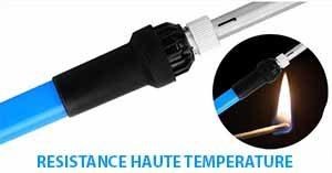 le fer à Souder kit électronique ANBES resiste aux hautes températures au niveau du manche