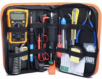 Fer à souder kit électrique HANDSKIT 220V 60W vendu complet avec sa trousse
