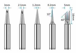 Les différents types de pannes du Détail complet du Fer à souder HANDSKIT 220V 60W
