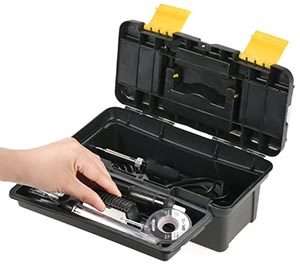 fer à souder électrique Meterk 14 en 1 - Caisse à outils ouverte
